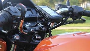 【防水スマホマウントホルダー】バイクや自転車などのハンドルにスマートフォンを取り付け可能!5.3インチのスマホまで対応