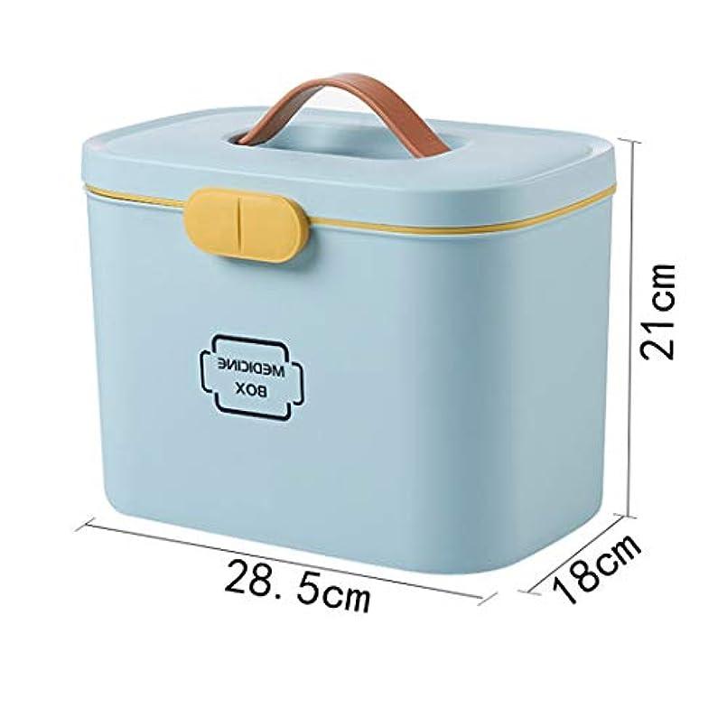 リア王ケント配る取っ手付 救急箱 大容量 収納ケース 薬箱 ツールボックス 薬入れ 小物入れ 収納化粧 アウトドア 多機能 家庭用 子供用 小型ボックス 小物収納 たっぷり プラスチック 裁縫箱 トレイ 取り外し可 L