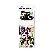 ハヤブサ(Hayabusa) 海戦イサキ・アジ ケイムラ&ブライトンMIX&から鈎 4本鈎2セット SE374 7/8-4-4