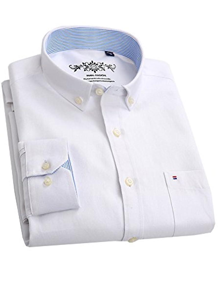 骨髄矢印つなぐ(ワイ-ミー) Y-ME 長袖ワイシャツカジュアルビジネス紳士長袖シャツ white-L 42
