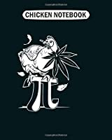 Chicken Notebook: chicken pot pi  College Ruled - 50 sheets, 100 pages - 8 x 10 inches