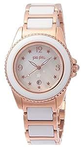 [フォリフォリ]FOLLI FOLLIE 腕時計 CERAMICSPORT ホワイトパール文字盤 ステンレス/セラミックケース ステンレス/セラミックベルト デイト WF1R001BZW レディース 【並行輸入品】
