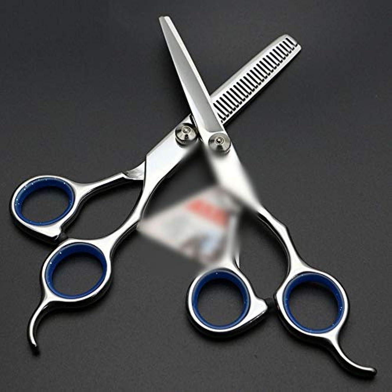 一掃するハムくさびBOBIDYEE 6インチ美容院プロフェッショナル理髪はさみセットヘアカットはさみステンレス理髪はさみ (色 : 青)