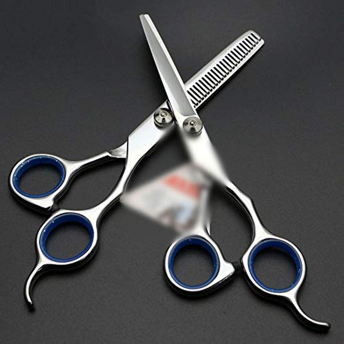 ダブル逸話仮定、想定。推測Hairdressing 6インチ美容院プロフェッショナル理髪はさみセットヘアカットはさみステンレス理髪はさみ (色 : 青)
