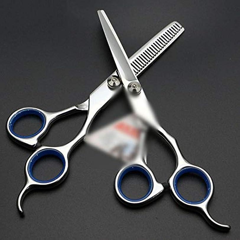 トライアスロン穏やかな変形するHairdressing 6インチ美容院プロフェッショナル理髪はさみセットヘアカットはさみステンレス理髪はさみ (色 : 青)