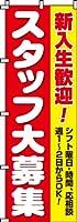 スタッフ大募集(新入生) のぼり旗 600×1800 専用ポール(白色)付 1セット
