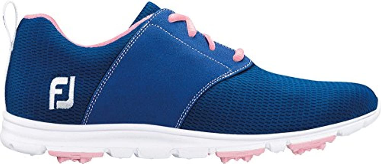 フットジョイ スポーツ ゴルフ シューズ FootJoy Women's enJoy Golf Shoes BluePink [並行輸入品]