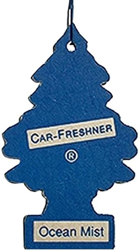 価格食事ナンセンスLittle Trees 吊下げタイプ エアーフレッシュナー オーシャンミスト 5枚セット(5P)