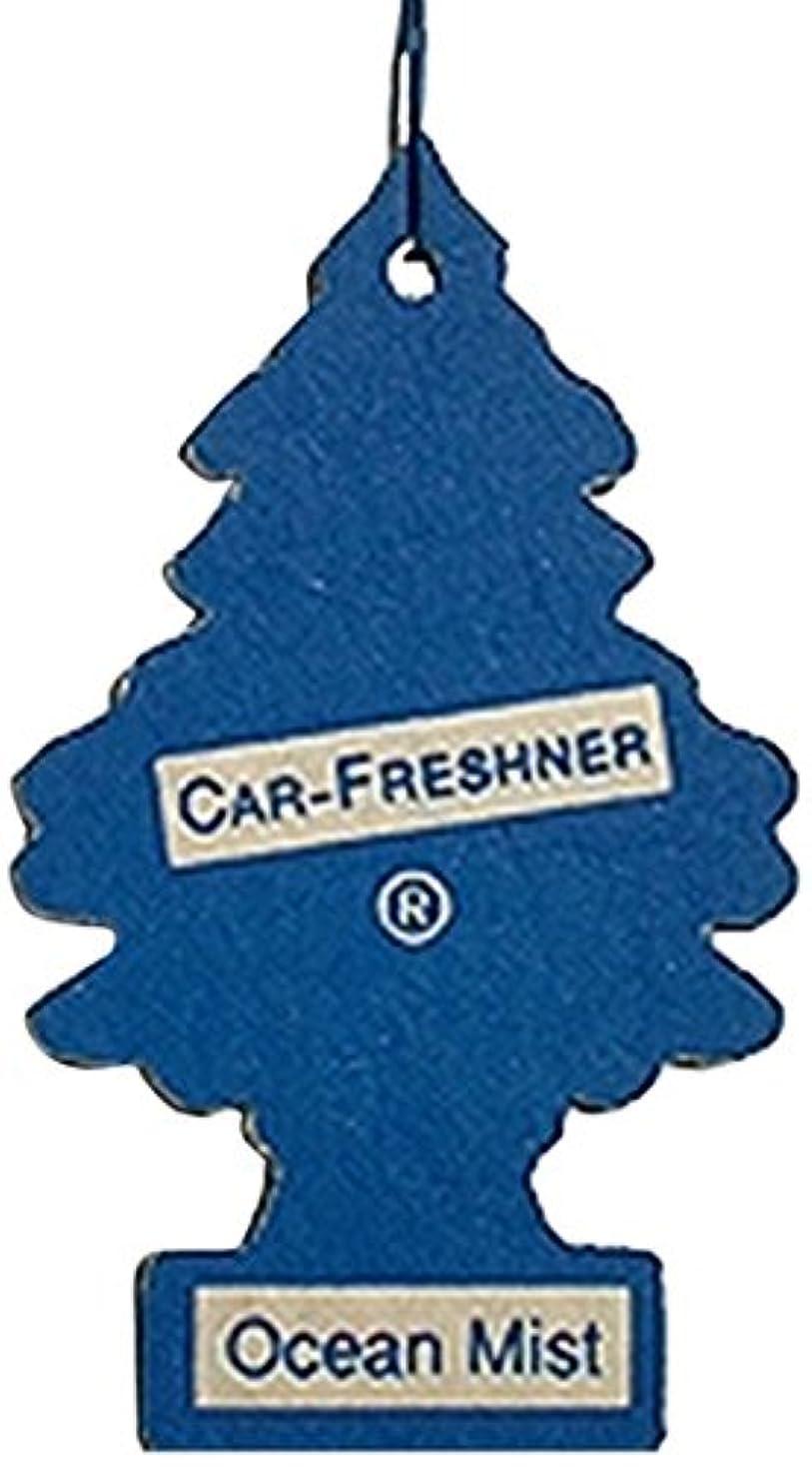 視力むちゃくちゃ列挙するLittle Trees 吊下げタイプ エアーフレッシュナー オーシャンミスト 5枚セット(5P)