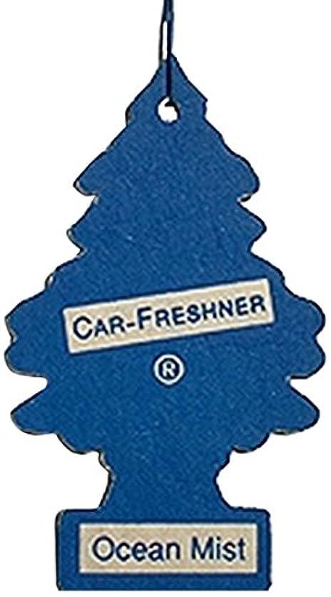 立方体手伝う希望に満ちたLittle Trees 吊下げタイプ エアーフレッシュナー オーシャンミスト 5枚セット(5P)