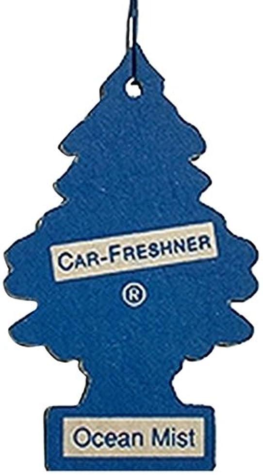 子供っぽい墓地予約Little Trees 吊下げタイプ エアーフレッシュナー オーシャンミスト 5枚セット(5P)