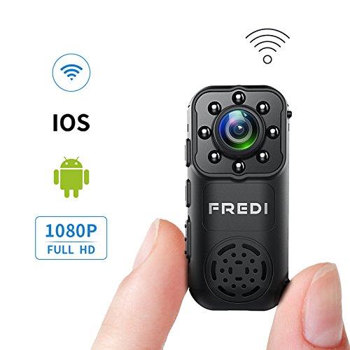 FREDI 隠しカメラ 小型 1080P高画質 録音 4分割...