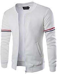 maweisong メンズ通気性ロングスリーブスタンドカラージップアップ軽量ジャケット
