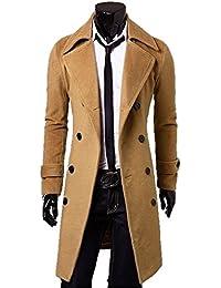 メンズ ラペルコート 3色 ハーフコート スリムジャケット ビジネスコート テーラードジャケット スタンダードコート フロックコート チェスターコート ダブルブレスト アウター エレガント 長袖 サイズ豊富 クマのぬいぐるみ付き K5205 (XL, キャメル)