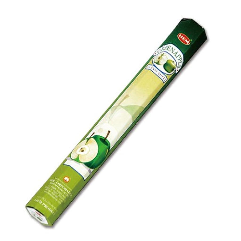 アルカトラズ島バトル調和のとれたHEM グリーンアップル香(GREEN APPLE) スティックタイプ 1筒:約20本入り (メール便配送240円!7筒まで同梱可!他お香(スティックタイプ)との組み合わせOK!)