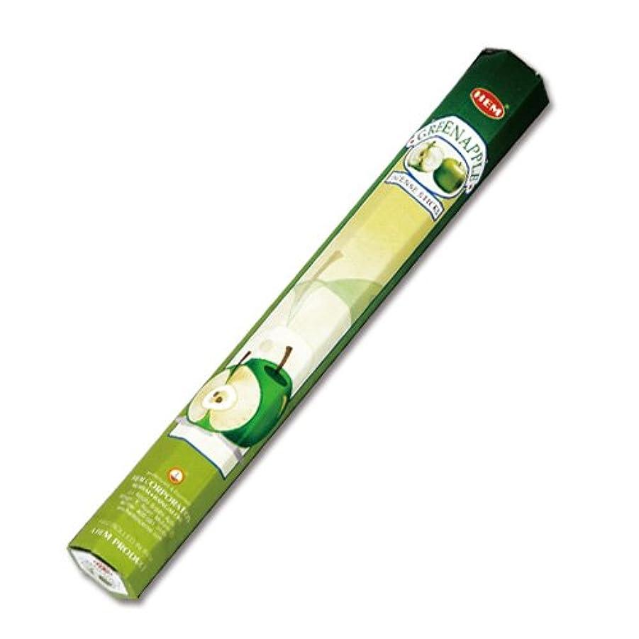 航空機請求可能漏れHEM グリーンアップル香(GREEN APPLE) スティックタイプ 1筒:約20本入り (メール便配送240円!7筒まで同梱可!他お香(スティックタイプ)との組み合わせOK!)