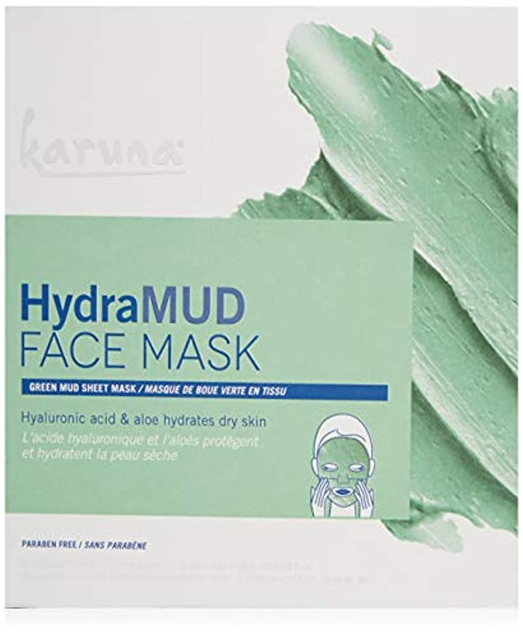 分離するパイロット研磨剤Karuna HydraMud Face Mask 4sheets並行輸入品