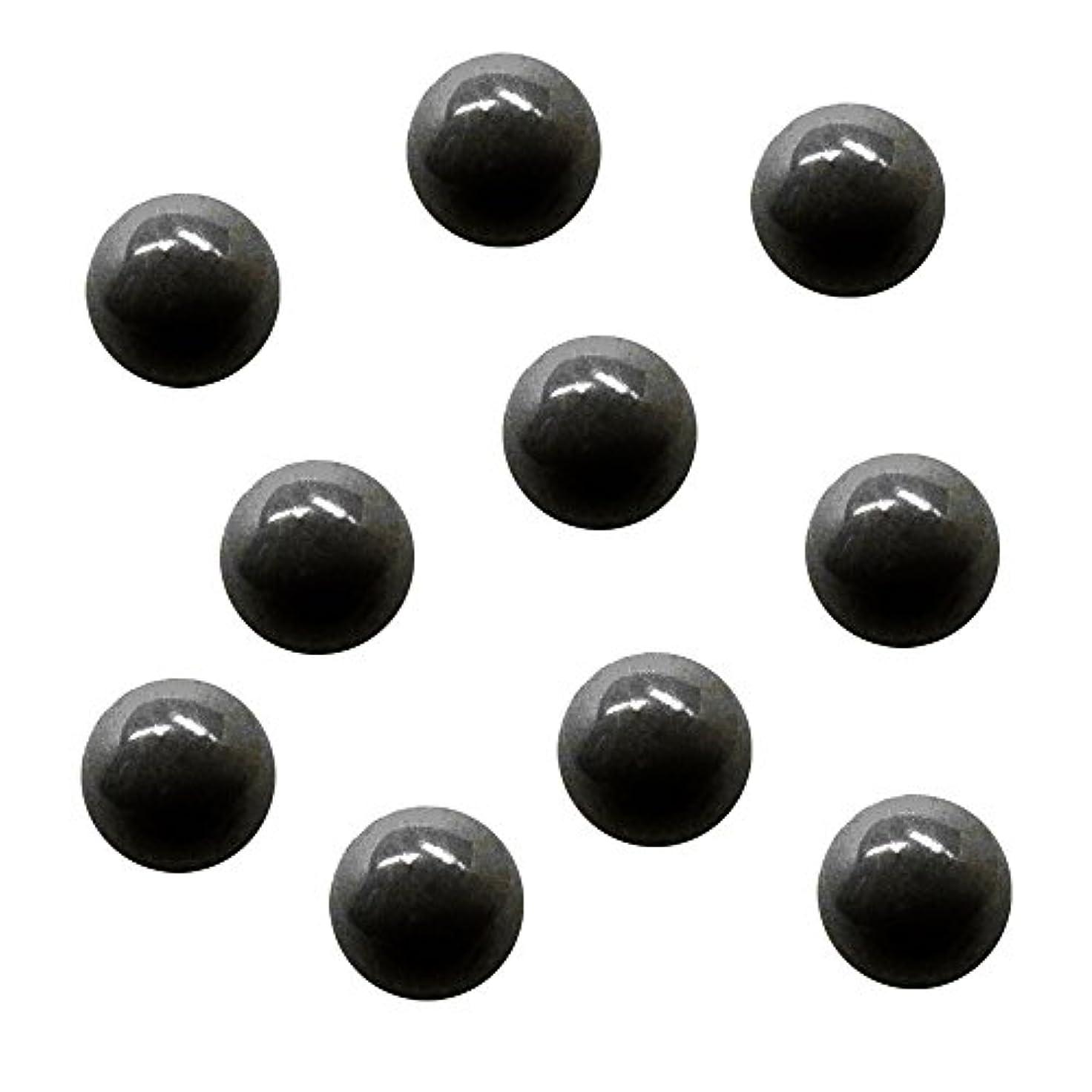 理解する堂々たる転用サンシャインベビー ジェルネイル ジュエリーボール ブラック5mm 10P