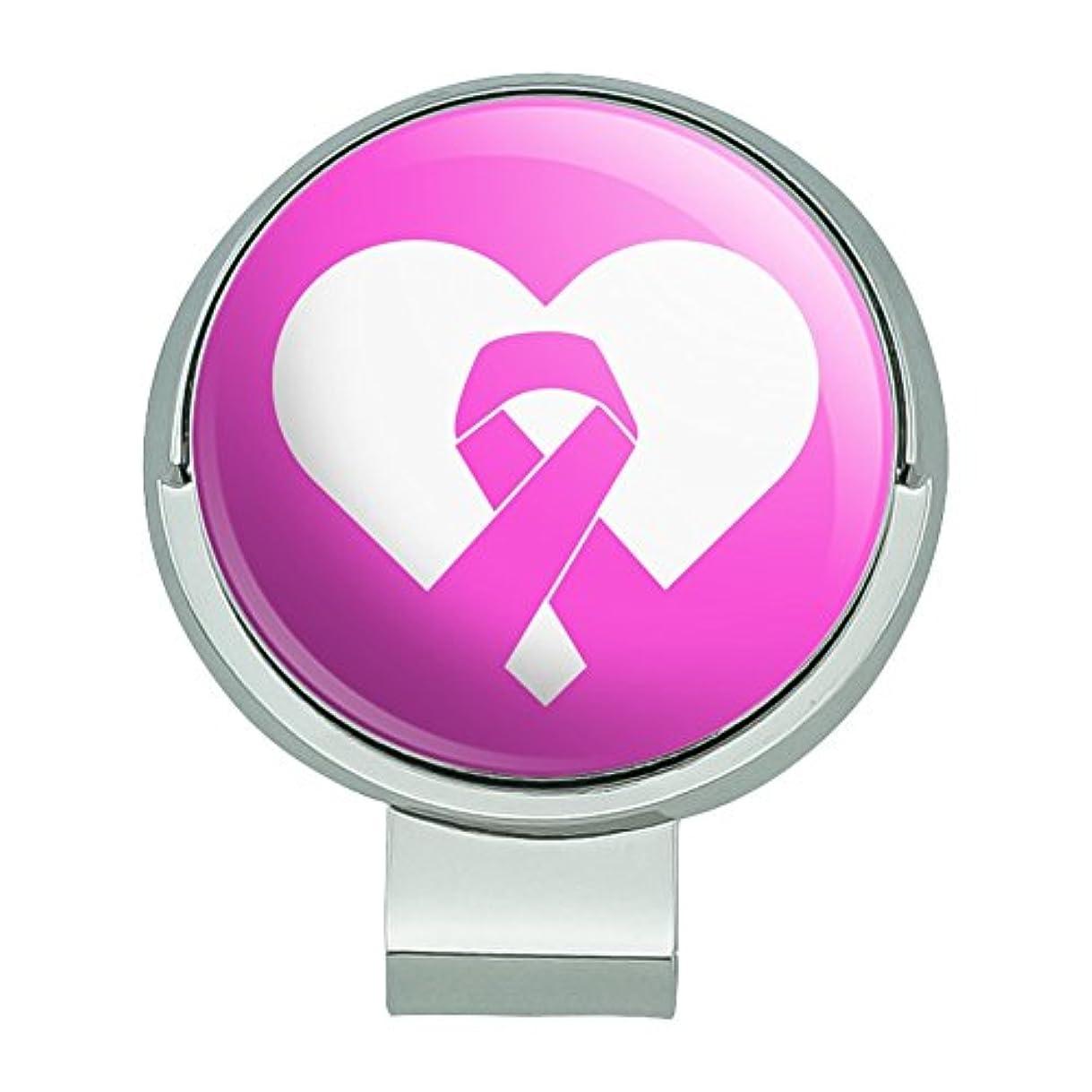 エキスパートランチ自己胸の乳癌意識ピンクリボン磁気ボールマーカー付きゴルフハットクリップ