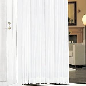 プライバシーミラーレース 【冬温夏涼】 サラクールとウェーブロン使用で紫外線90%カット&熱線60%カット 夜も目隠し 遮像レースカーテン 遮熱効果 トウオンカリョウ 色:ホワイト サイズ:(幅)100×(丈)176cm×2枚組