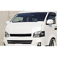 AKEa トヨタ 200系 ハイエースワイドボディ用 バッドフェイスボンネット (ブラック)