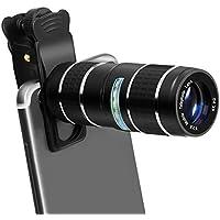 望遠レンズ スマホ GLISTENY 12倍 セルカレンズ HD 単眼鏡 携帯カメラレンズ クリップ式 小型 多機種対応 tripod ミニ三脚スタンド付き