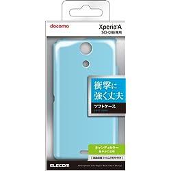 ELECOM Xperia A SO-04E用 ソフトケース ブルー 液晶保護フィルム付き PD-SO04EUCBU
