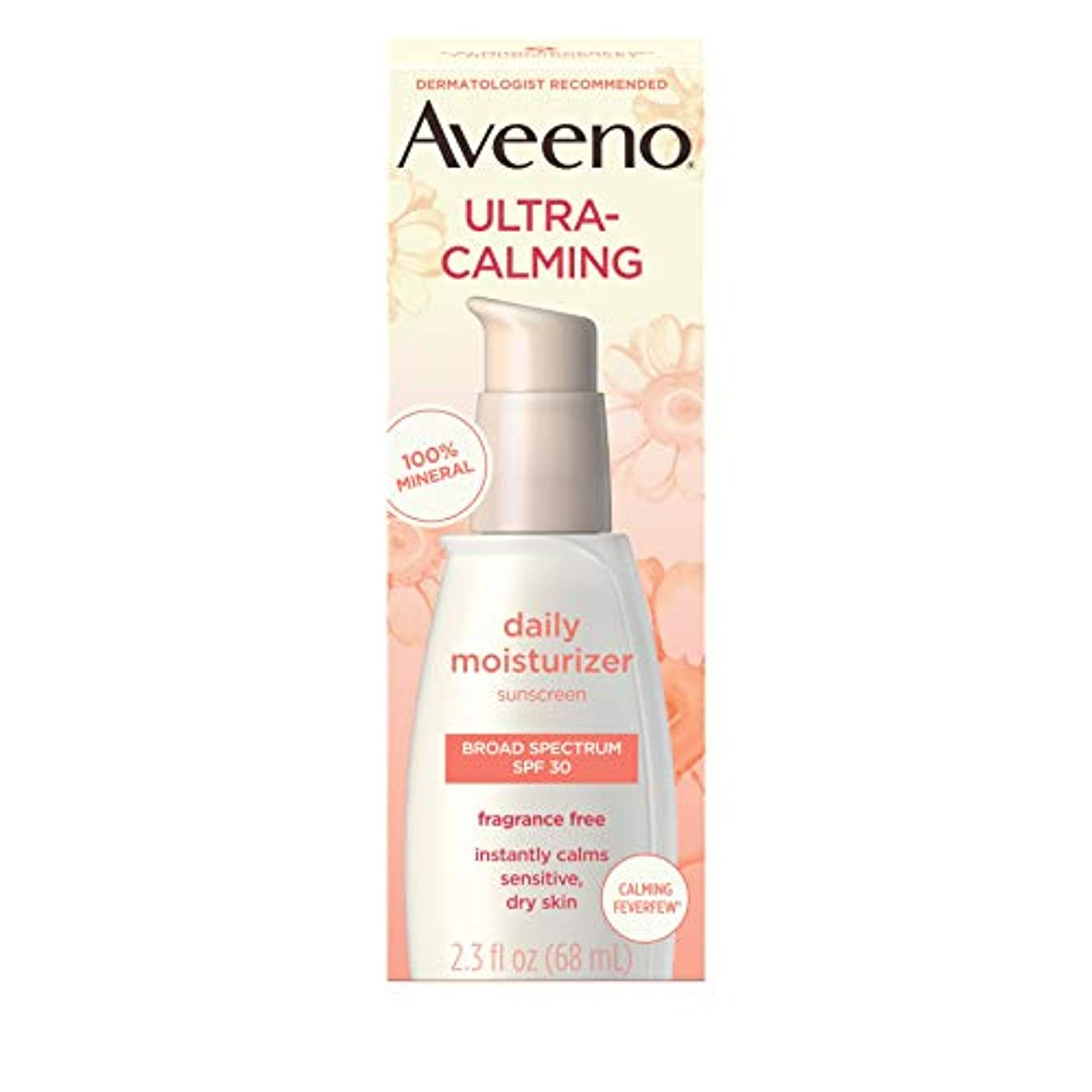状況虎活性化アビーノ ウルトラカーミング デイリーモイスチャライザー無香料 敏感肌用 SPF30 0.25オンス Aveeno Ultra-Calming Daily Fragrance-Free Moisturizer - Sensitive...