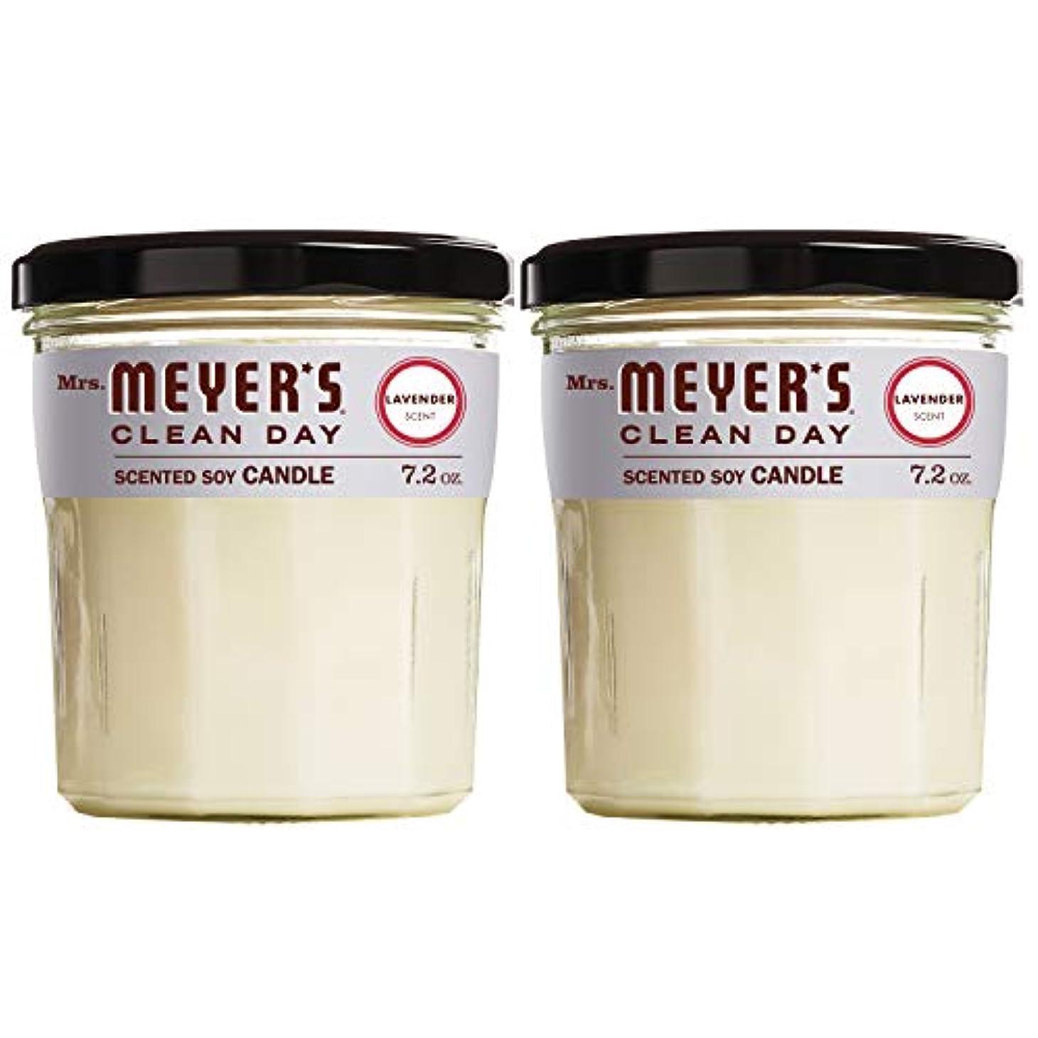 極地化粧彼女のMrs Meyers ソイキャンドル 7.2オンス ラベンダー 大型