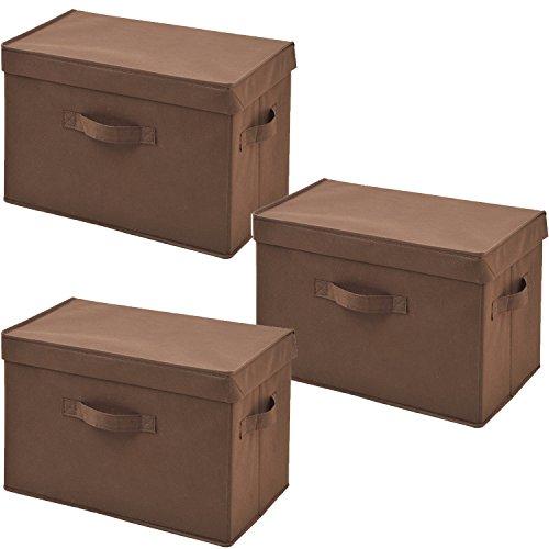 山善(YAMAZEN) どこでも収納ボックス ふた付き 3個...