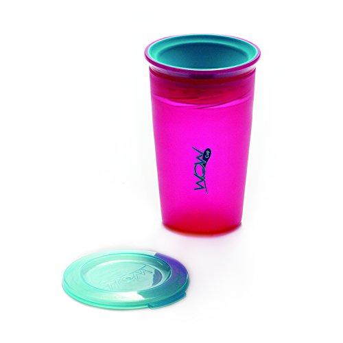 KJC フタをしたまま飲める Wow Cup(ワオカップ) クリアカラー ピンク