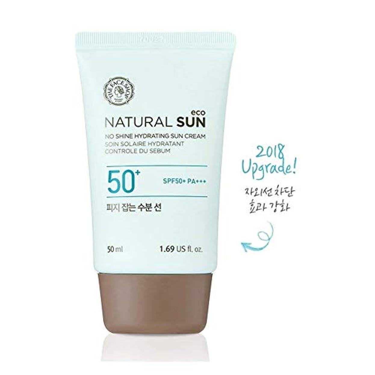 相手触覚主観的ザ?フェイスショップ ネチュロルソンエコフィジーサン?クリーム SPF50+PA+++50ml 韓国コスメ、The Face Shop Natural Sun Eco No Shine Hydrating Sun Cream...