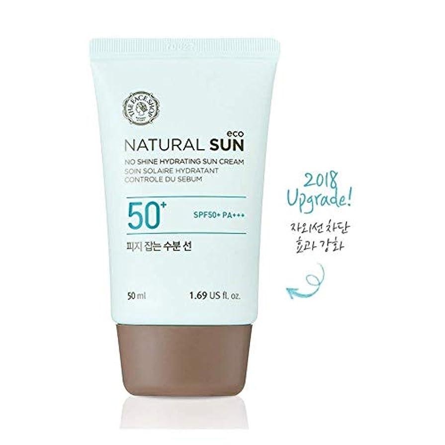 パースブラックボロウ彼女押し下げるザ?フェイスショップ ネチュロルソンエコフィジーサン?クリーム SPF50+PA+++50ml 韓国コスメ、The Face Shop Natural Sun Eco No Shine Hydrating Sun Cream...