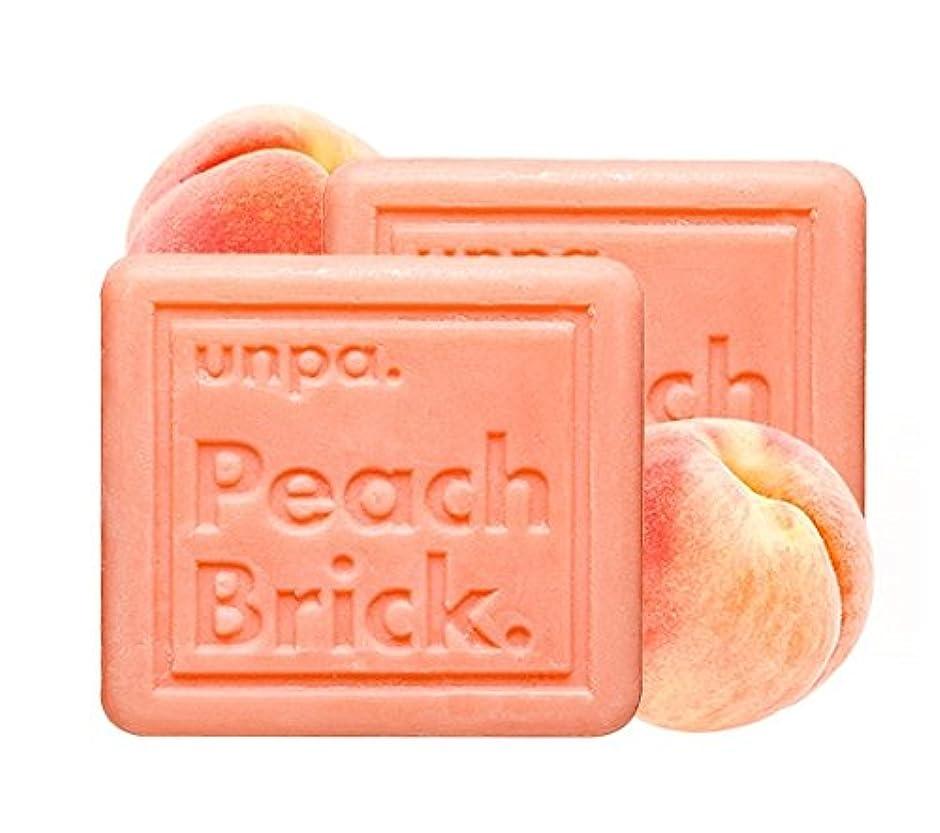酸素系譜拒否unpa ピッチ?ブリック?トンアップ?ソープ(Peach Brick Tone-Up Soap)