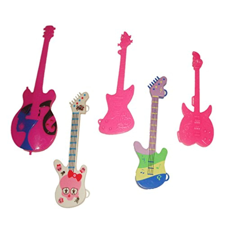 【ノーブランド品】プラスチック製 バービー 人形 玩具 おもちゃ 楽器 5種 ランダムな色