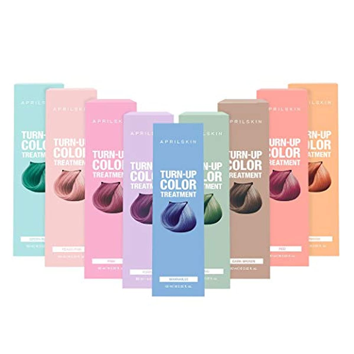 スペル無条件インディカApril Skin(エイプリルスキン) ターンアップカラー トリートメントBurgundy(ブルゴーニュ)Set(Red + Pink)/Turn up Color Treatment/K-Beauty