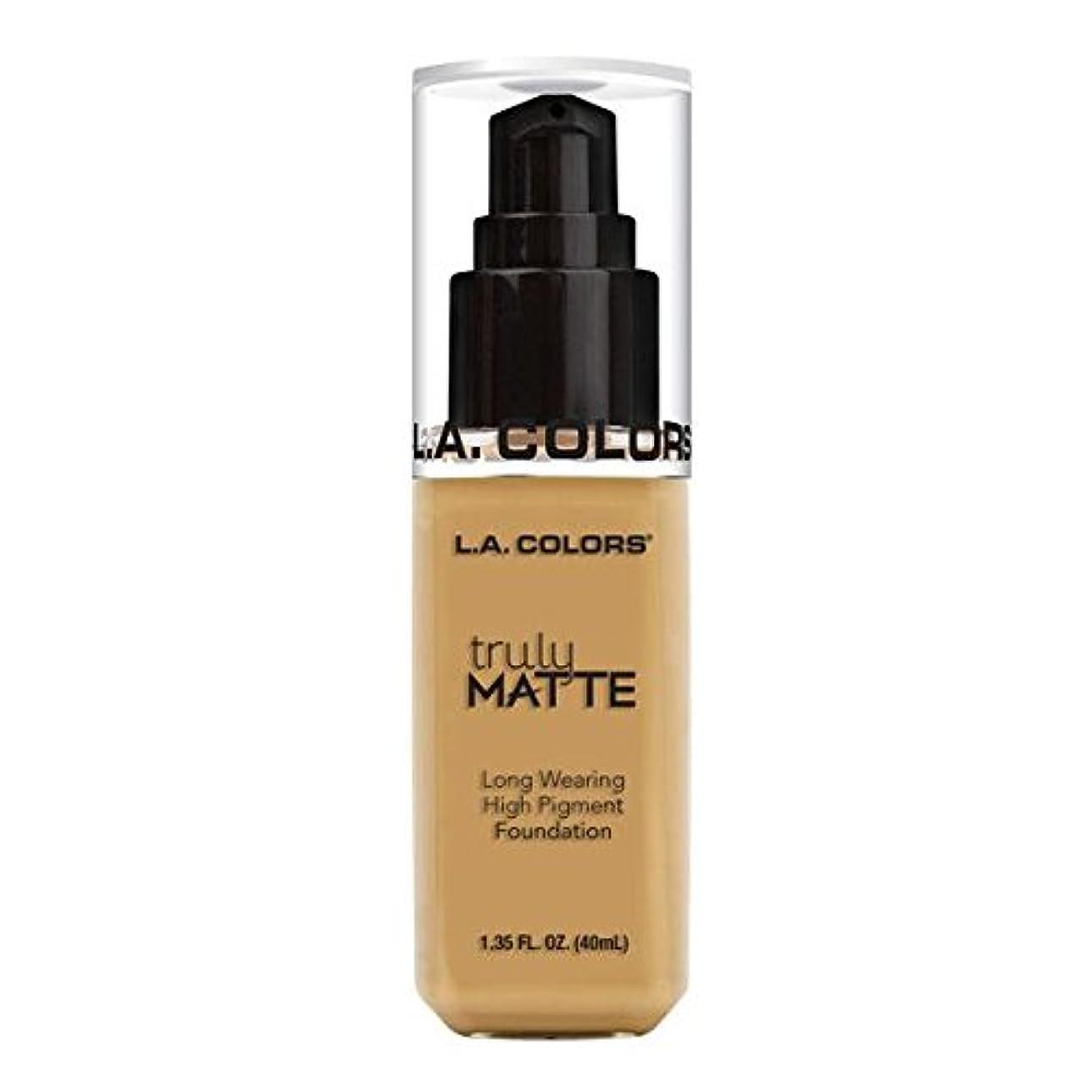 豚真似る質量(6 Pack) L.A. COLORS Truly Matte Foundation - Nude (並行輸入品)