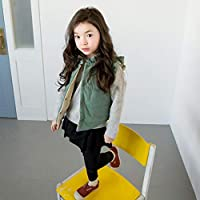 Children Girl Jacket Coat Button Closure Outerwear Vest Thick Warm Cotton Coat BabyProducts