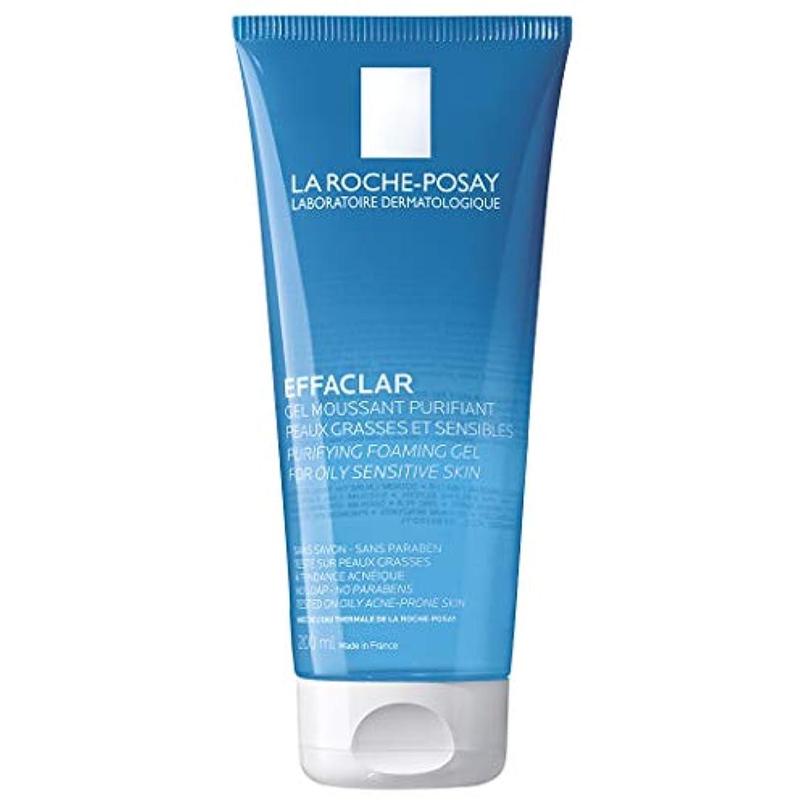 差テンポ伝染病[ラロシュ布製] エファクラ 脂性肌のためのピュリファイングフォーミングジェルクレンザー 200ml / La Roche-Posay Effaclar Purifying Foaming Gel Cleanser for...