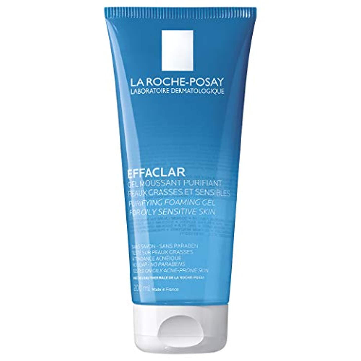 静める十代ヒント[ラロシュ布製] エファクラ 脂性肌のためのピュリファイングフォーミングジェルクレンザー 200ml / La Roche-Posay Effaclar Purifying Foaming Gel Cleanser for...