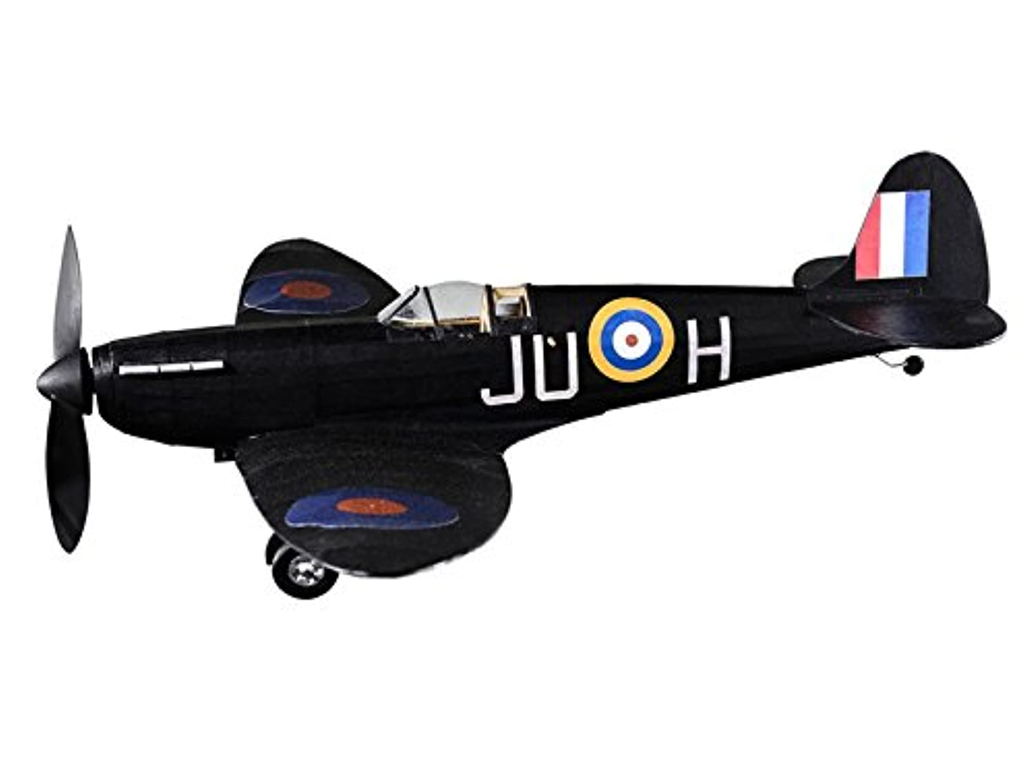 Supermarine Spitfire Nightfighter complete vintage model rubber-powered balsa wood aircraft kit that really flies