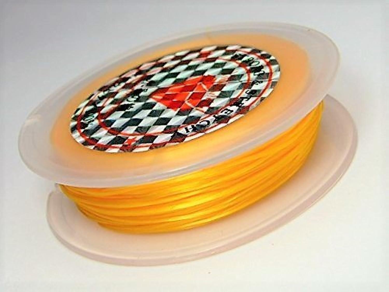 【hinryo】 40m オペロンゴム 糸 水晶の線 繊維入り ポリウレタン伸びる ゴム (金色)