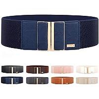 """Women's Elastic Stretch Wide Belt Retro Dress Belt Waist Cinch Belt 3"""" width By MIJIU"""