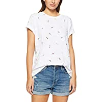 French Connection Women's Beach Divers TEE, Summer White/Multi