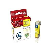 (業務用セット) ジット(キヤノン Canon用) インクジェットカートリッジ JIT-C326Y イエロー 1個入 〔×3セット〕