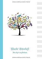 Blanko Notenheft: Din A4 | 104 Seiten: Blanko Notenpapier fuer Musiker | Blanko Notenblock zum Eintragen und Selberschreiben | 12 Notensysteme pro Seite | Musiknotenheft fuer eigene Kompositionen und Musikideen