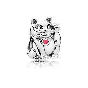 [パンドラ] PANDORA Pink Waving Cat チャーム (シルバー) 正規輸入品 790989EN05