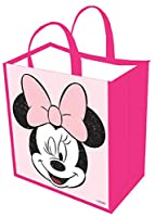 Disney : MinnieマウスGirlsヴィンテージピンクトートバッグ食料雑貨バッグ再利用可能な折りたたみ式ショッピングバッグ、Eco Friendly