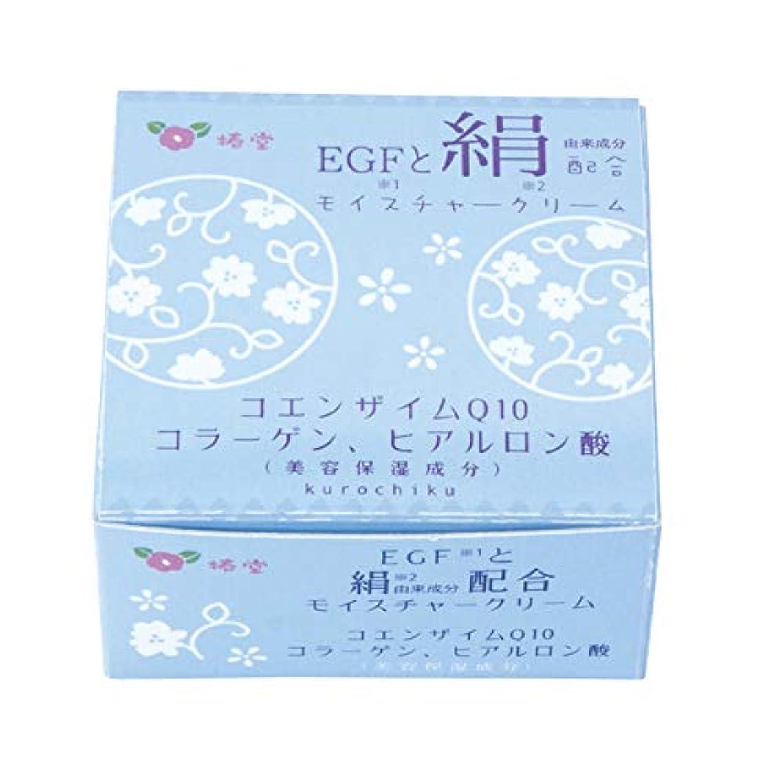 ディレイ毎日微弱椿堂 絹モイスチャークリーム (FGFと絹) 京都くろちく