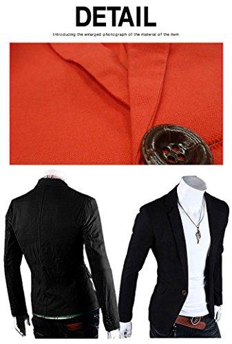 BUZZ WEAR [バズ ウェア]テーラードジャケット メンズ 大きいサイズ ブレザー ビジネス カジュアル フォーマル 黒 赤 青 2016 秋冬春服 XL ブラック
